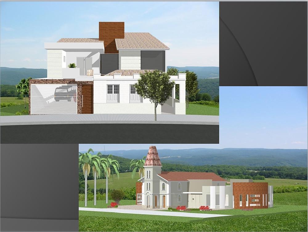 Residência Inhapim - MG / Igreja de Santo Estevão - Bugre - MG ( Ana Martha Ligeiro Marques )