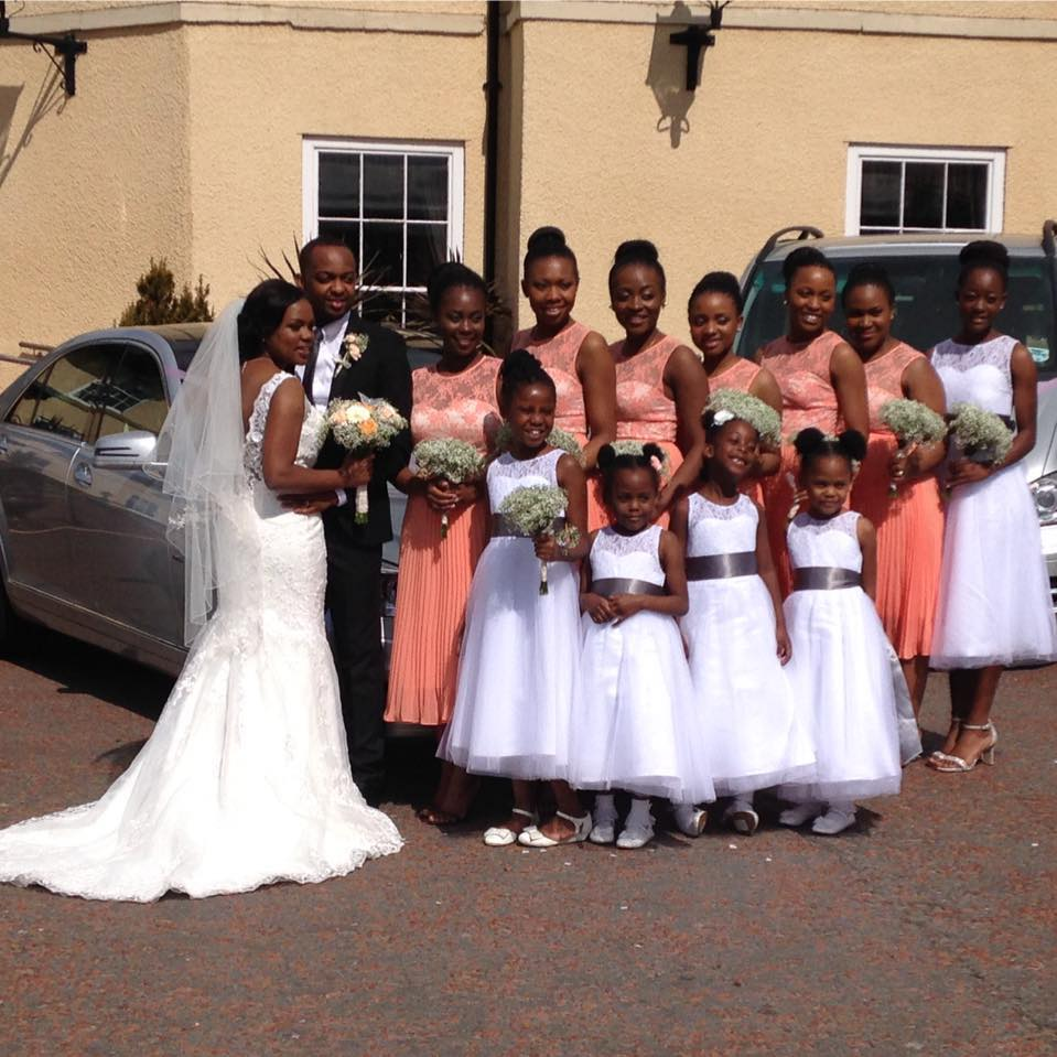 All smiles bridal party.