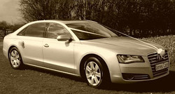 audi a8 wedding car.