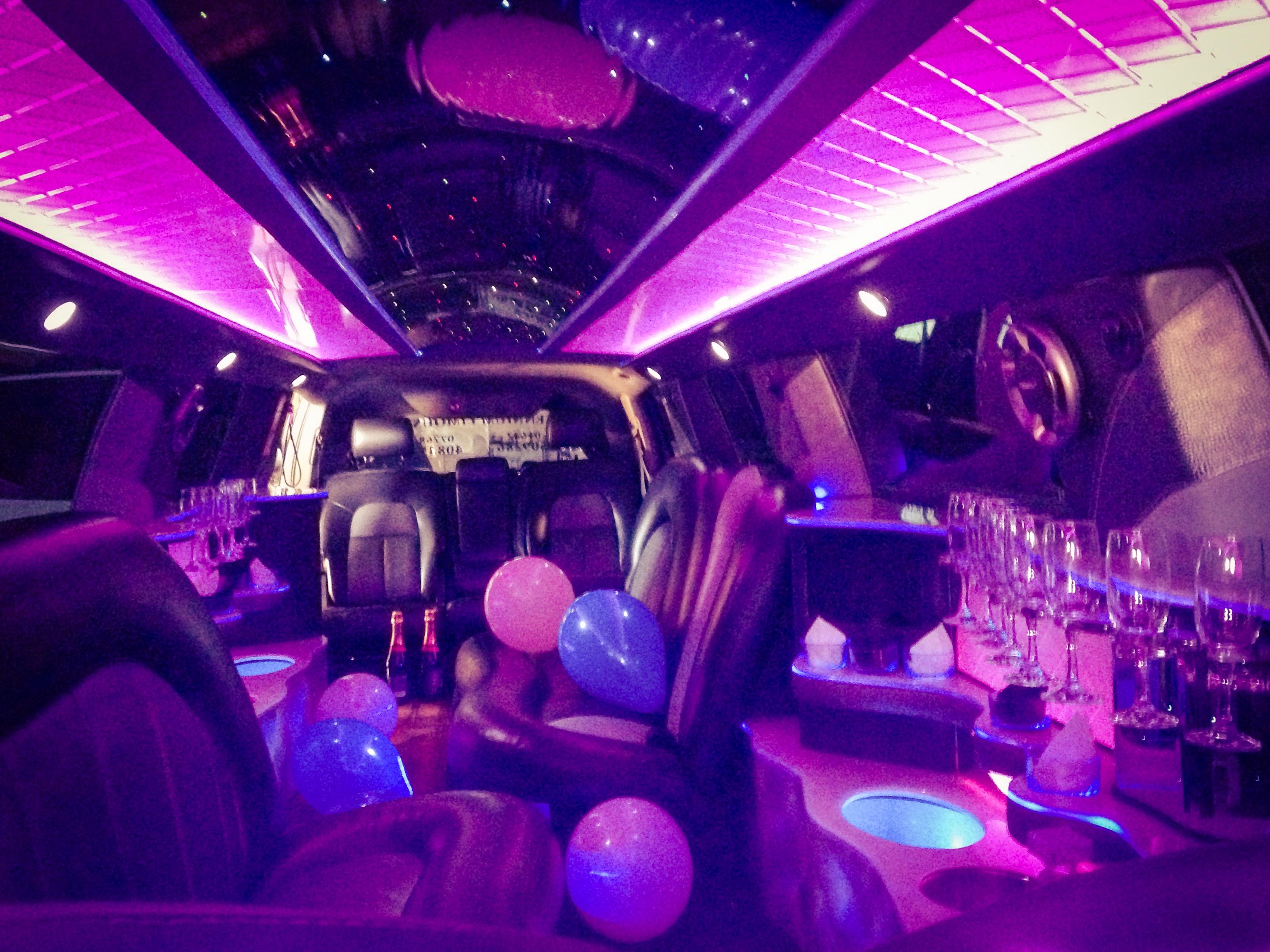 Limousine interior.