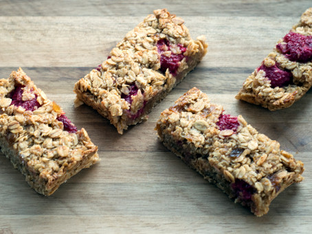 Apple Raspberry Flapjacks