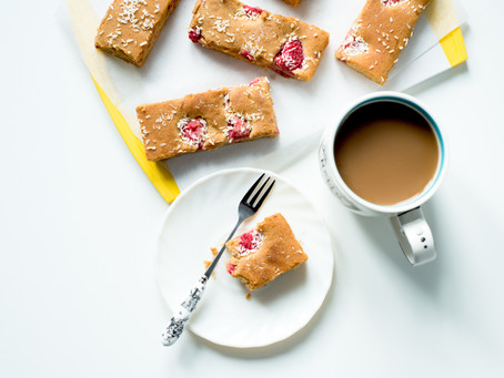 Coconut & Raspberry Slices