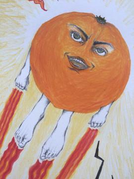 L'Orange fait du trampoline