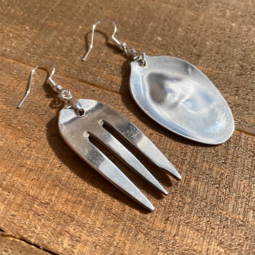Earrings Fork and Spoon