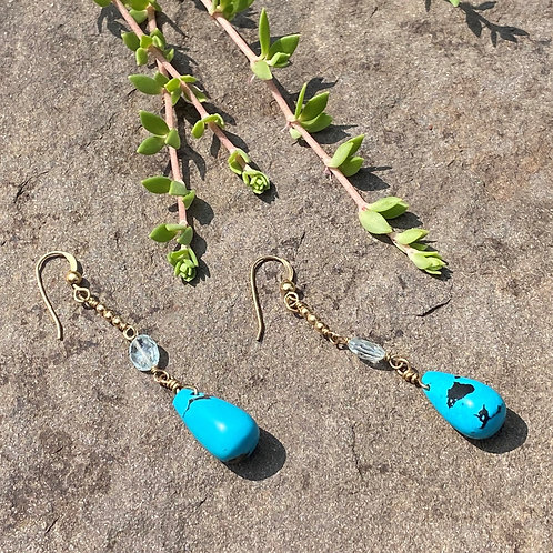 Earrings Turquoise Gold