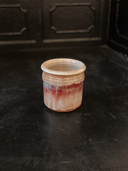 Utensil Jar Red