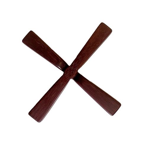 Trivet Iron Cross Purpleheart