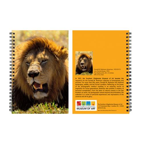 Notebook Robinson Spiral Lion