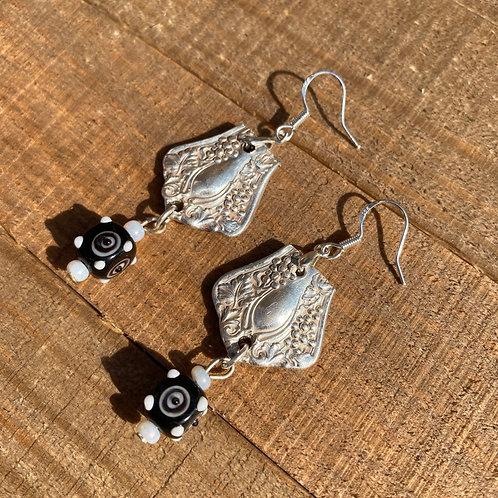Earrings Silverware Bead