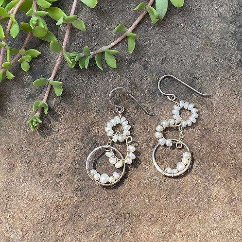 Earrings Sterling Silver Pearl