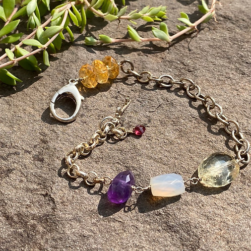 Bracelet Sterling Silver Gemstone