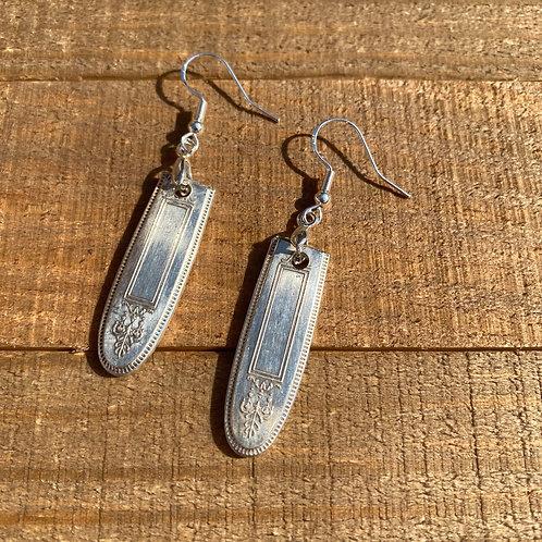 Earrings Silverware Rounded