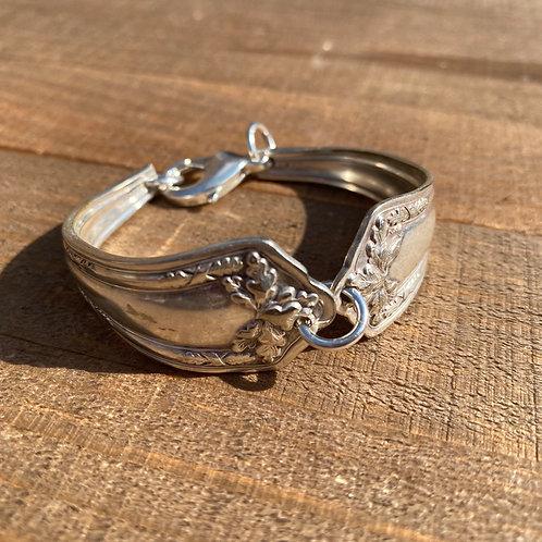 Bracelet Silverware Leaves