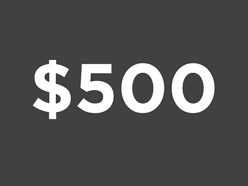 Benefactor $500