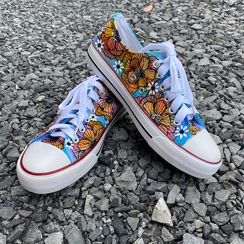 Shoes Hand Painted Color