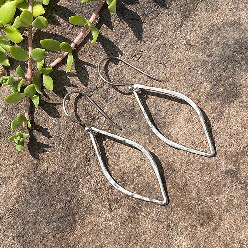 Earrings Sterling Silver Leaf