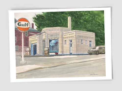 Card Robert Bowden Gulf Station