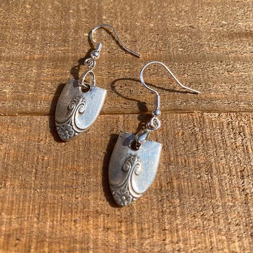Earrings Silverware Shield