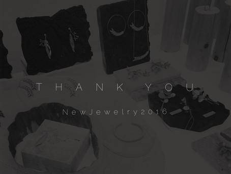 New Jewelry 2016 @3331 Art Chiyoda ご来場ありがとうございました!