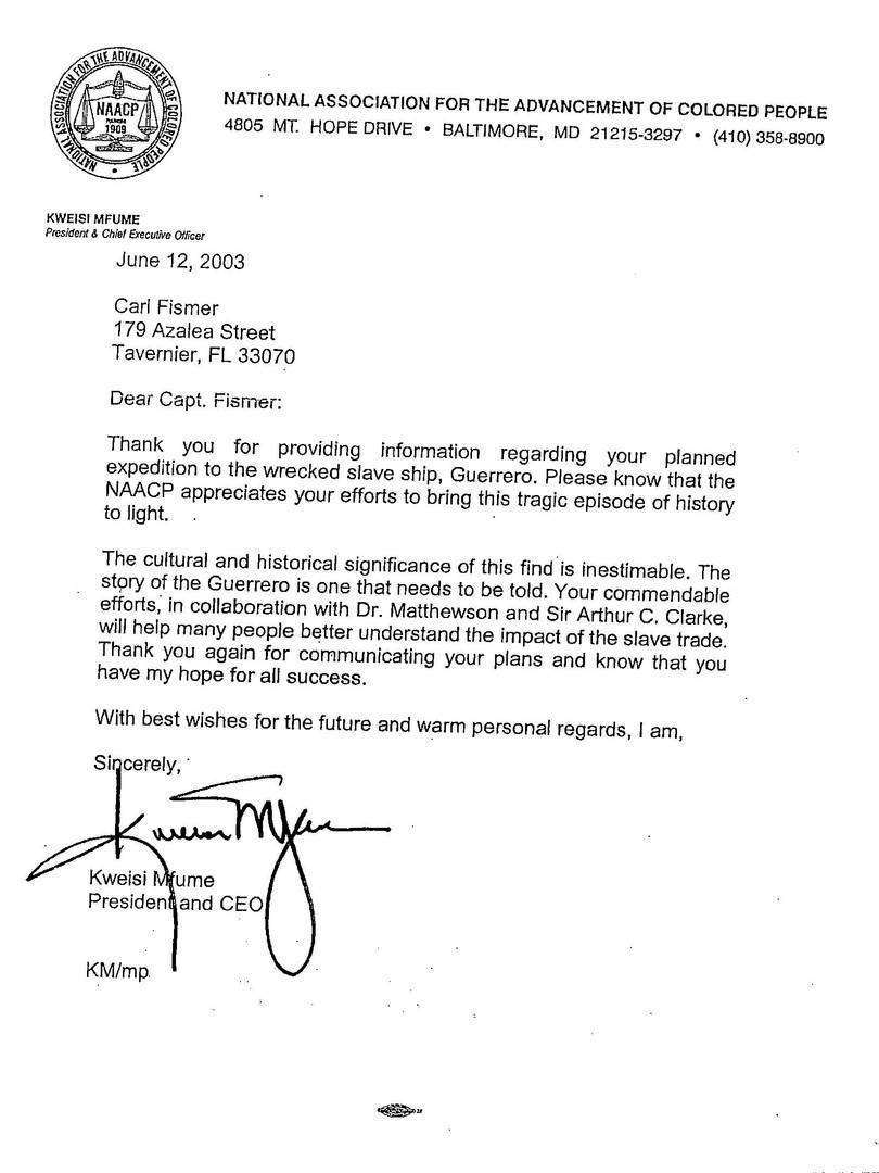 Letters of recommendation for Capt. Carl Fismer.
