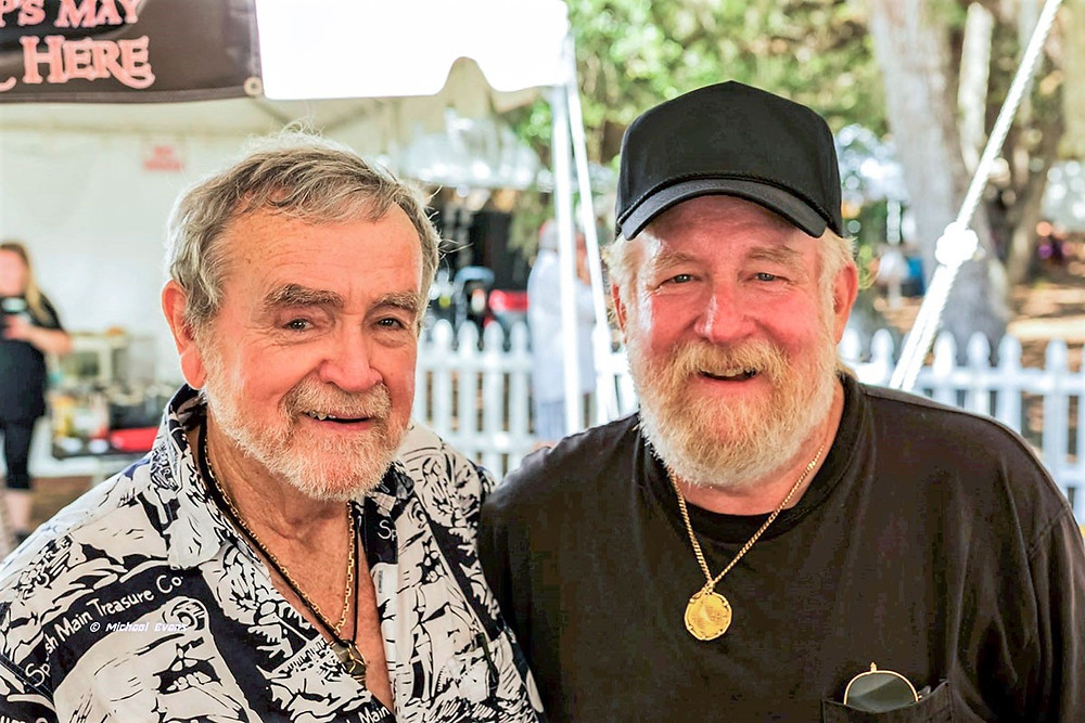 Captains Carl Fismer and John Brandon are top notch treasure hunters who have recovered millions of dollars in gold, silver, and other artifacts. MICHAEL EVANS PHOTO