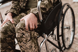 Veteran in wheelchair returned from army