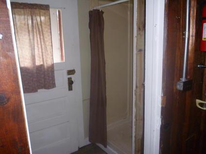 Balsam shower and back door