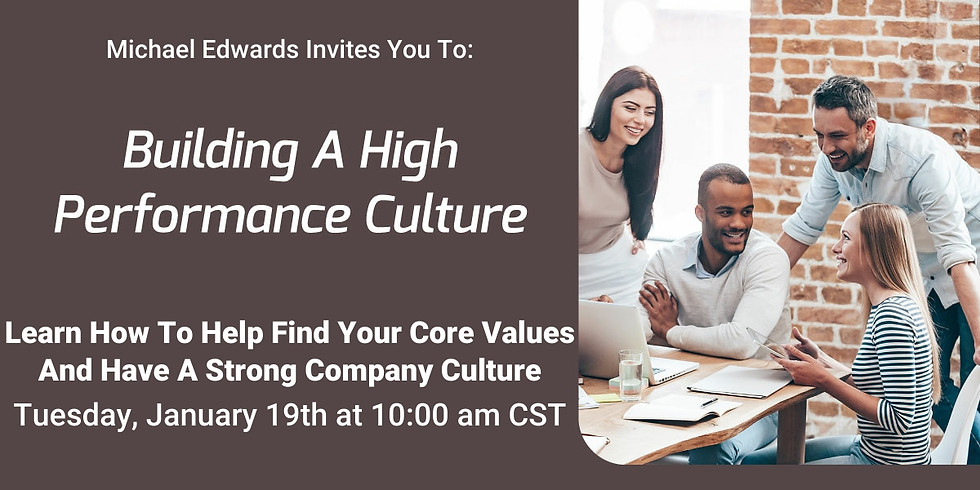 Building A High Performance Culture