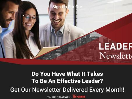 Sign Up For My Leadership Journey Newsletter