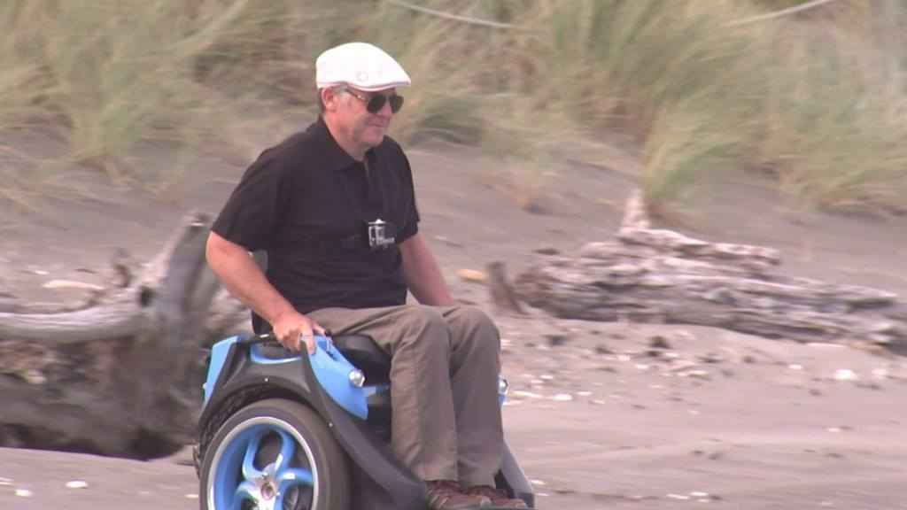 Kiwi man rolling out his 4WD wheelchair globally
