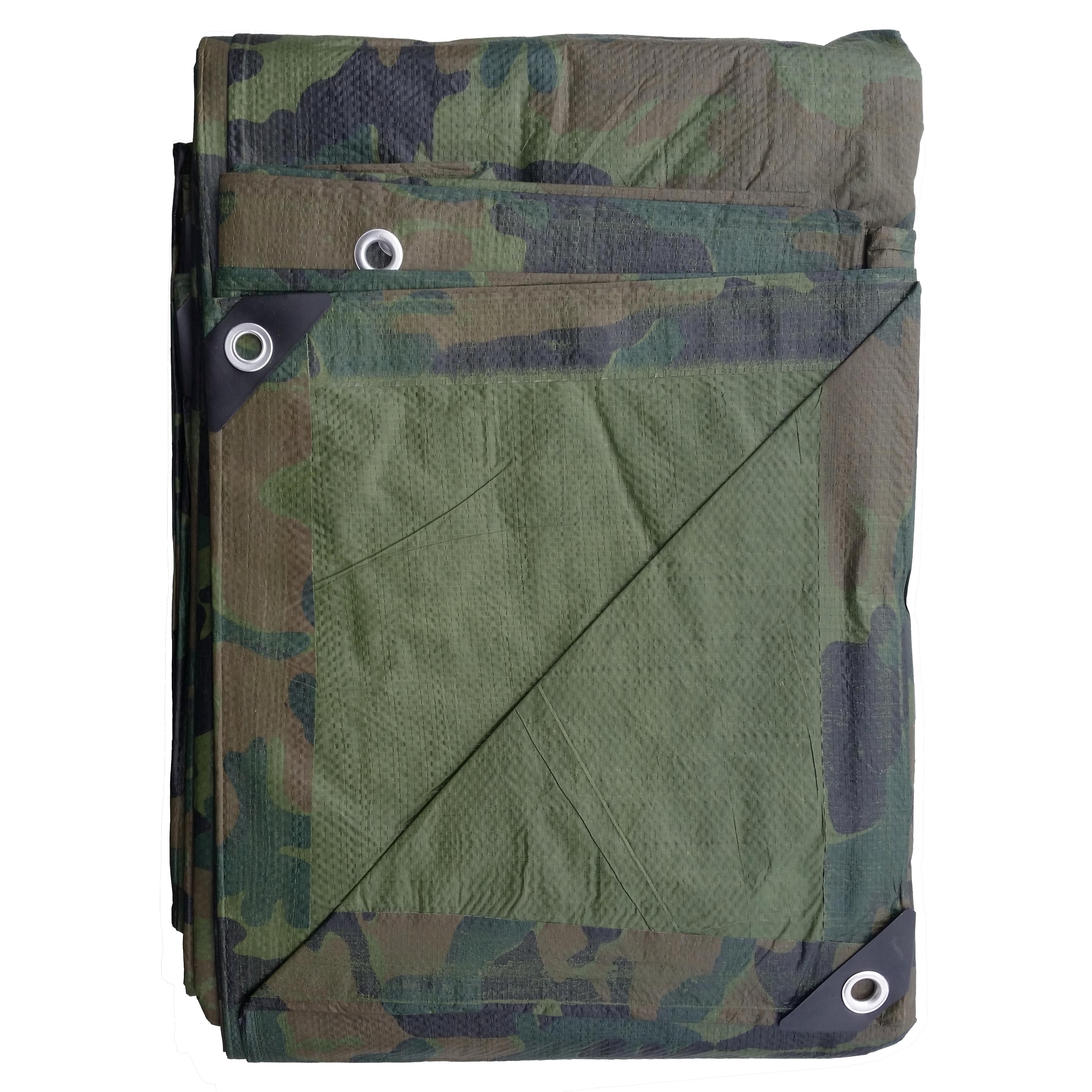 Camouflage Tarp Folded