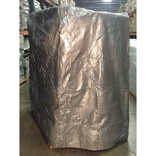 Silver Woven Poly Pallet Cover