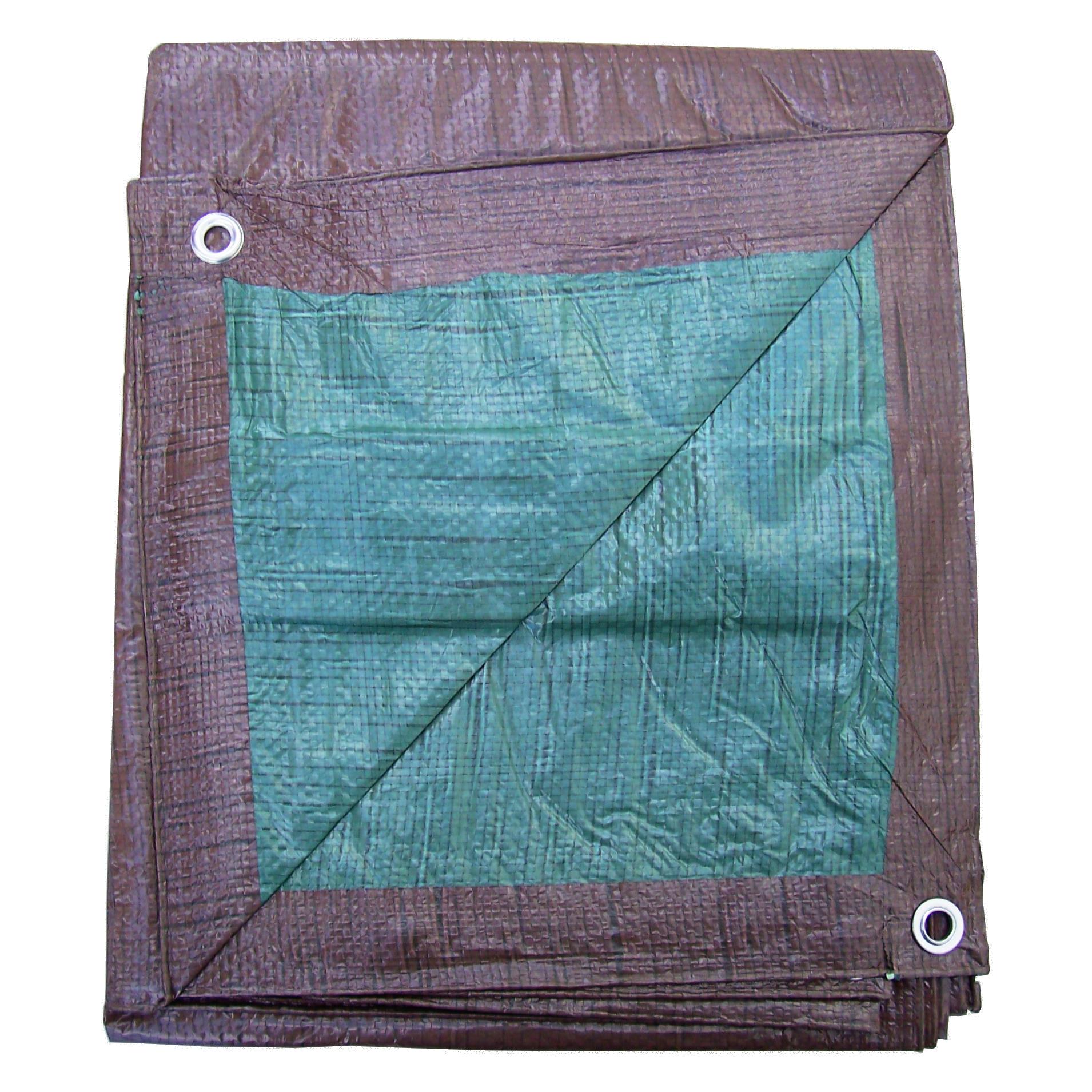 Smart Tarp Brown-Green Folded