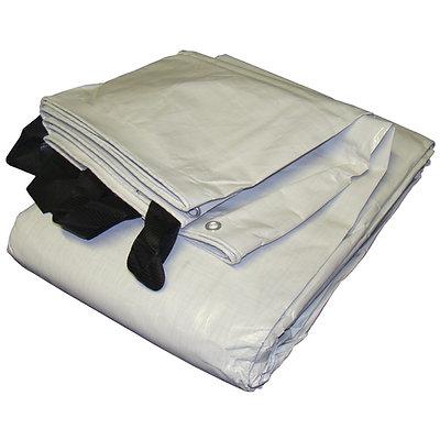 White & Black Reversible Extra Heavy Duty Tarp