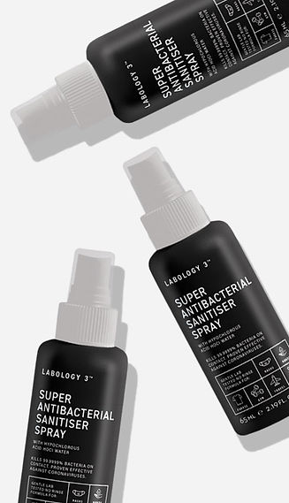 Labology 3 Super Antibacterial Sanitiser Spray with Hypochlorous Acid HOCl water