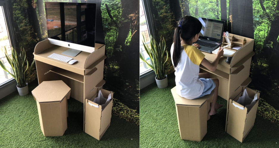 Lifestyle: Create Your Own WFH Space With This Unique Cardboard Desk