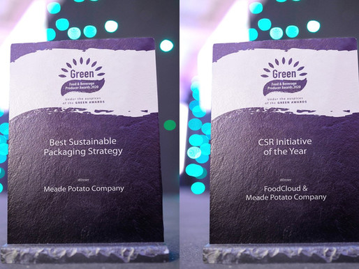 DOUBLE WINNER AT GREEN FOOD & BEVERAGE AWARDS 2020
