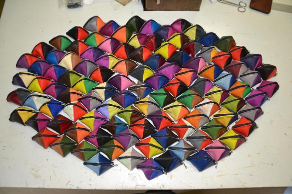 Collection colorée de porte monnaie bateau