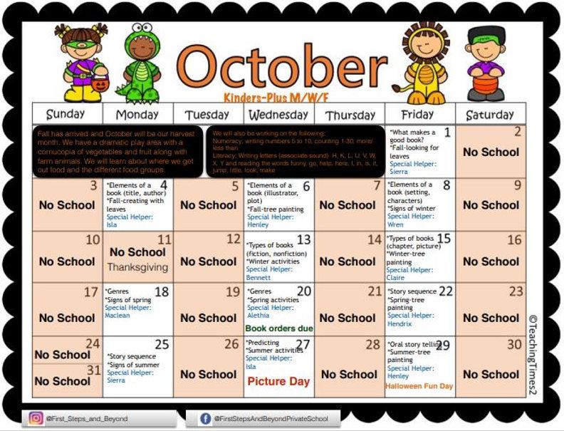 Kinders Plus MWF Oct Calendar 2021.JPG