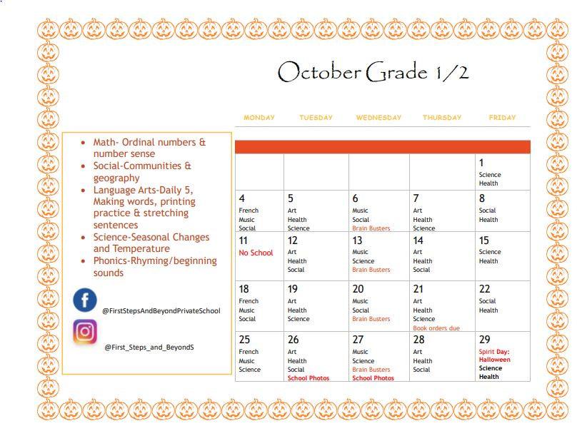 Grade 1 and 2 Oct Calendar 2021.JPG