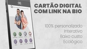 Cartão virtual + link na biografia do instagram