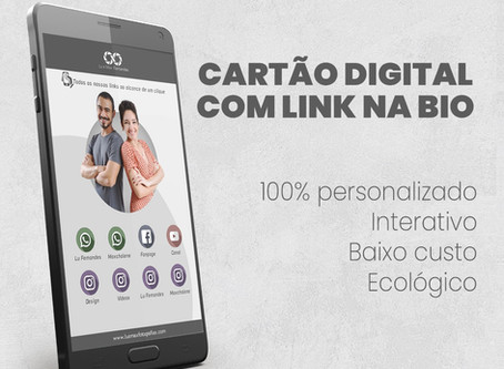Cartão virtual + link na biografia do instagram