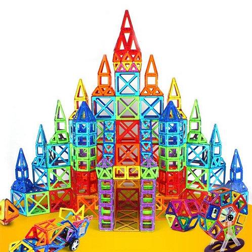Blocos Magnéticos 64 Peças Brinquedo Educativo Infantil