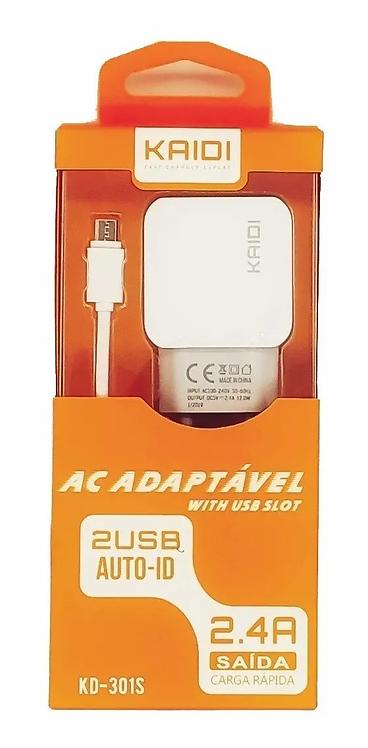 Carregador Micro USB Kaidi KD-301S