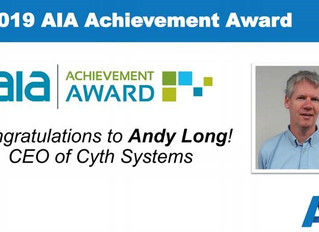 Cyth CEO Honored with AIA Achievement Award for Machine Vision & Imaging Contributions