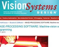 Cyth in Vision Systems Magazine: Machine Vision Software Requires No Programming