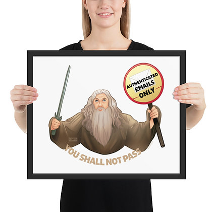 Gandalf the Postmaster Framed photo paper poster