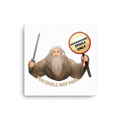 Gandalf the Postmaster Canvas