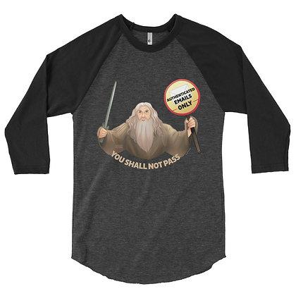Gandalf the Postmaster 3/4 Sleeve Raglan Shirt