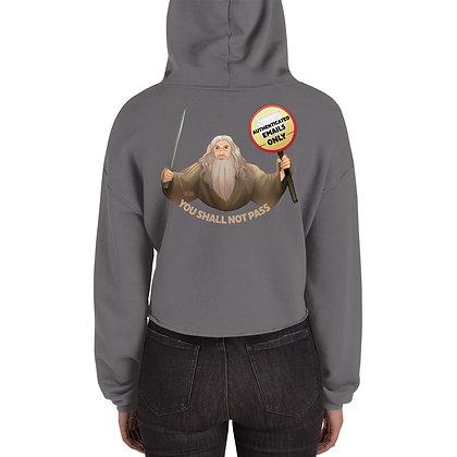 Gandalf the Postmaster Crop Hoodie